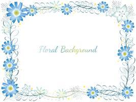 Aquarelle cadre de fleur. vecteur