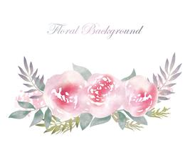 Fond de fleur aquarelle avec espace de texte. vecteur
