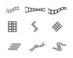 modèle de bande de film icône vector illustration