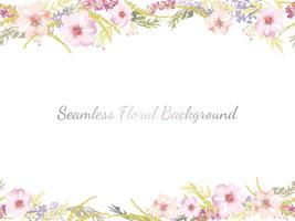 Aquarelle fond floral sans couture avec espace de texte.