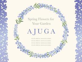 Couronne de fleurs, illustration vectorielle