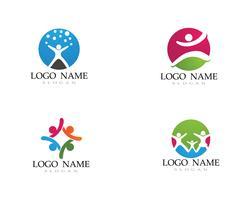 Adoption enfants logo et symbole santé vecteur
