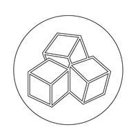 icône de sucre vecteur