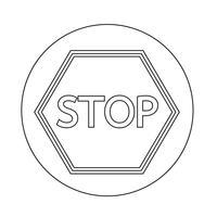 Icône de panneau d'arrêt