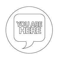 Vous êtes ici icon