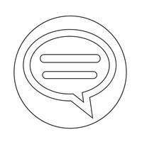 icône de discussion bulle vecteur
