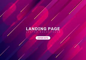 Abstrait minimal coloré géométrique couleur vibrante. modèle page de destination du site. Composition de formes dynamiques. vecteur