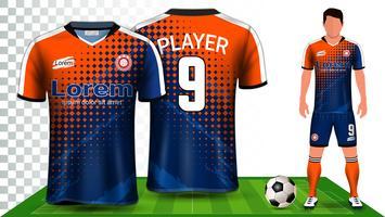 Maillot de soccer, maillot de sport ou maillot de football, modèle de maquette de présentation