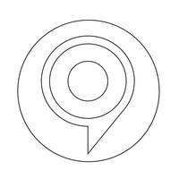 icône de bulle cible