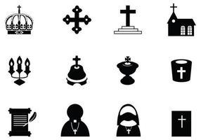 pack icône vecteur chrétien