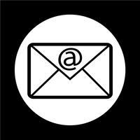 icône de symbole de courrier électronique vecteur