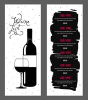 Conception de la liste des vins.