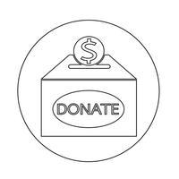 Icône de la boîte de donation vecteur