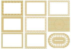 Pack de vecteurs de bordereaux de certificats