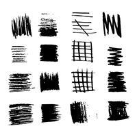 ligne de croquis d'encre de coup de pinceau dessinés à la main vecteur
