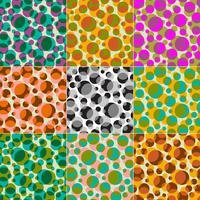 modèles vectoriels de cercles superposés transparents
