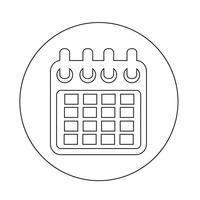 Icône de calendrier vecteur