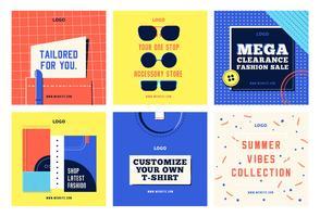 Modèle de collection de mode shopping social media post