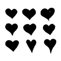 Main coeur dessiner icône design vecteur