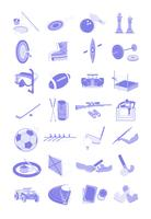 Sports et activités d'icônes illustration mis en bundle