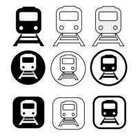 Ensemble de transport train icon vecteur