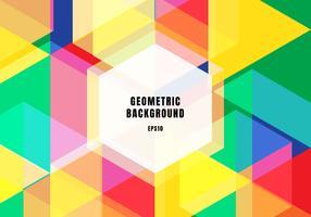 Hexagones colorées abstraites colorées de fond qui se chevauchent concept branché. vecteur