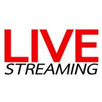 Live Streaming conception de vecteur de signe en ligne
