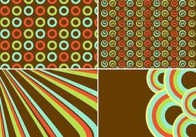 Vector de fond rétro et ensemble de vecteur de motif