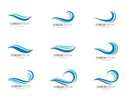 Vecteur d'icône de vague d'eau