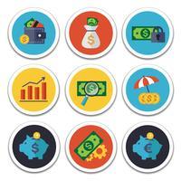 ensemble d'icônes finance et banque