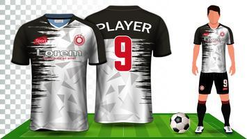 Modèle de maquette de présentation de kit de football et de football.