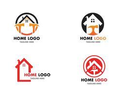 Modèle et vecteur de logo de réparation à domicile