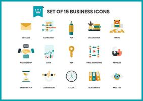Icônes d'affaires définies pour les entreprises