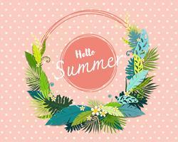 Belle bannière et affiche de l'été
