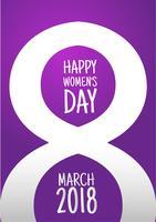 Conception de la Journée internationale de la femme du 8 mars vecteur