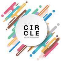 Motif géométrique multicolore abstrait arrondi formes diagonales lignes transition fond avec étiquette de cercle blanc