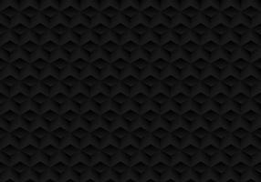 3D cubes noirs de symétrie géométrique réaliste motif texture et fond sombre.