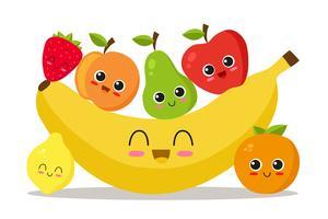 Fruits frais vecteur
