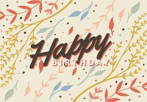 Typographie de joyeux anniversaire vecteur