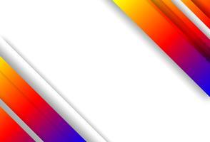 Abstrait. Les formes géométriques colorées se chevauchent. lumière et ombre. vecteur. vecteur