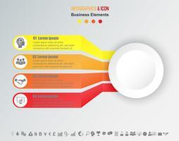 Modèle de graphique de processus infographie métier.