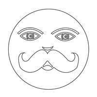 icône de visage de moustache