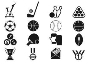 pack d'icônes de sport vecteur