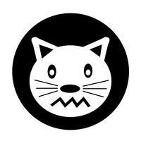 Icône de chat vecteur