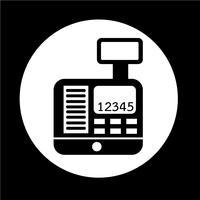 Icône de caisse enregistreuse vecteur