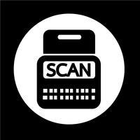 Icône Scan Stock vecteur