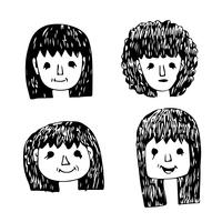 Les gens face icône de dessin animé vecteur