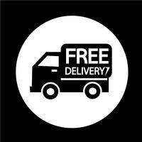 Icône de livraison gratuite vecteur