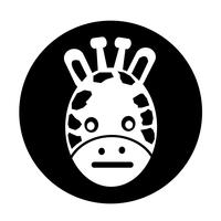Girafe icône vecteur
