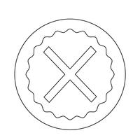 Annuler l'icône croix vecteur